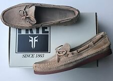 BNIB FRYE MASON TIE Boat Moccasin Shoes Sand Size 9 Guaranteed Genuine