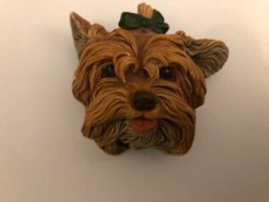 Vintage Bossons Chalk ware Dog head Yorkshire Terrier