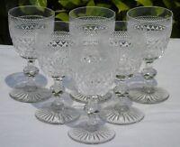 Saint Louis? - Service de 6 verres à vin en cristal, modèle dans le goût Trianon