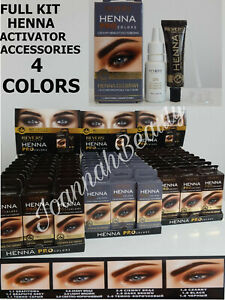 ❤️HENNA EYEBROW EYELASH TINT LONG LASTING  FULL KIT DYE CREAM 15ml 4 COLORS❤️