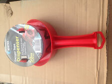 danger tape (50 mtrs) with dispenser non stick red and white