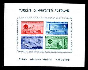 Turkey 1952 block of stamps Mi#Bl.4 MH CV=120€