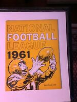 1961 NFL National Football League Yearbook VERY GOOD