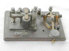Antique/Vintage J.H.Bunnell & Co Telegraph Key Morse Code Keyer Estate Find
