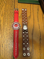 New Old Stock LeJour Lot of 2 SAMPLE DUMMY WATCHES FOR REPAIR PARTS WILD Hearts