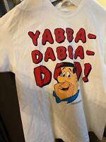 Vintage Single Stitch 90s Fred Flintstone YABBA DABBA DOO!  T-Shirt XL Rare