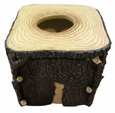 Blonder Home Timberwood Tissue Box Cover Woolrich Tree Stump Woodland