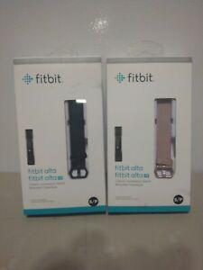 *2* OriginalFitbit Alta HR Classic Accessory Bands Small BLACK and PINK