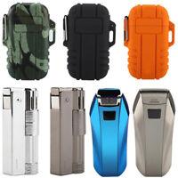 Windproof USB Dual Arc Cigarette Lighter Recharge Flameless Electric Lighter JS