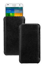 Design Ledertasche schwarz für HTC One X9 Etui Schutz Hülle Tasche Case black
