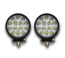 2 PCS HIGH POWER ROUND 12/24V LED WORK LAMPS FLOOD LIGHTS TRUCK OFFROAD 4x4 BOAT
