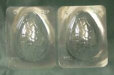 2 MEDIUM (4.5 inch) EASTER EGG CHOCOLATE MOULDS/MOLD decorating.FREE P&P.UK made