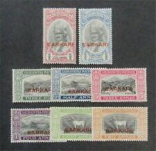 nystamps British India Soruth Stamp # O1-O8 Mint OG H $37