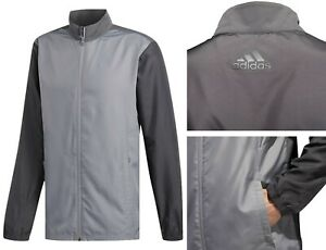 ADIDAS Essentials Golf Wind Jacket Full Zip - SMALL OR MEDIUM - RRP£55 - Grey