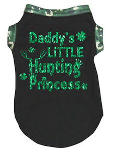 Black Top Daddy's Little Hunting Princess Pet Cat Dog Puppy One Piece Clothes