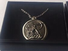 "Diana Goddess code dr88  Made From Pewter On 16"" Silver Plated Curb Necklace"