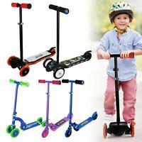 Kids Micro Scooter for Boys Girls Push Kick 3 Wheel Adjustable Folding Bar