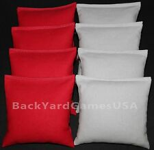 CORNHOLE BEAN BAGS Red & Gray Grey 8 ACA Corn Hole Game Toss Bags Ohio State OSU