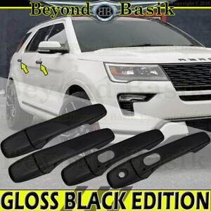2011-2019 FORD EXPLORER 11-14 Edge GLOSS BLACK Door Handle COVERS W/Smart KYHole