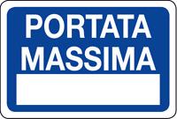 ADESIVO segnaletica PORTATA MASSIMA 200x300 mm