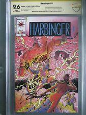 Harbinger #0 Pink Variant CBCS 9.6 like CGC **Signed Jim Shooter & Bob Layton**
