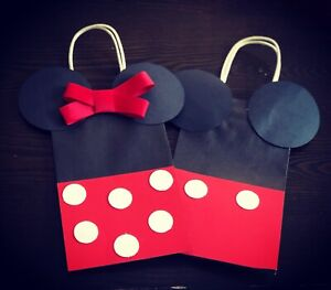 24 Minie And Mickey Gift Bags 8x4.25x10.5 Inches Paper Bags