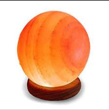 Globe Salt Lamp Hand Carved Natural Pink Himalayan Crystal Rock Healing Light UK
