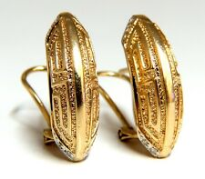Crescent Greek Symbol Mid Century Earrings Clips 14 Karat