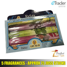 Indian Incense Joss Sticks Scent Long Burn Aroma Insence 5 Fragrances Home Relax