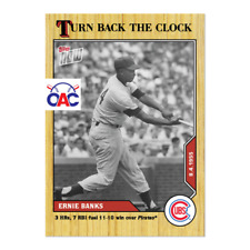 2020 Topps Now Turn Back the Clock #127 Ernie Banks Chicago Cubs 3 HRs 7 RBI