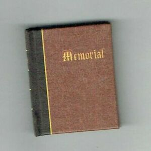 1/12th Scale Dolls House Book, 'Church Memorial Book'. By Dateman Books.