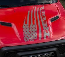 Hood US flag distressed Vinyl Stickers Decal fit to Ram Rebel