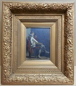16th Century Florentine Courtier. Oil by listed artist Angelo Romagnoli, 1877