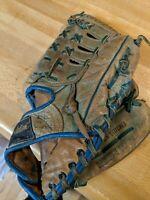 Vintage Revelation G1238 Blue Leather Baseball Glove Supreme Pro Model