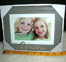 Cousins Picture Frame 5 x 7 or 4 x 6 Photograph Family Reunion Relative Gift New
