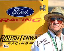JACK ROUSH SIGNED AUTOGRAPHED 8x10 PHOTO + HOF 2019 NASCAR LEGEND BECKETT BAS