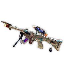 Combustione SPIN 3 TOY GUN. MACHINE GUN WITH vibranti suoni e luci lampeggianti