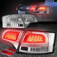 [TRON STYLE LED] FOR 2005-2008 AUDI A4/S4 WAGON CHROME TAIL LIGHT BRAKE LAMP