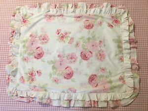 Rachel Ashwell Shabby Chic Treasures Floral Pink Roses Ruffled Pillow Sham