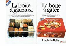 PUBLICITE ADVERTISING 0217  1985  boite à gateaux de Belin ( 2pages)