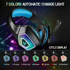 3.5mm LED Gaming Headset MIC Headphones for PC SW Laptop Xbox PS4 One X SSlim