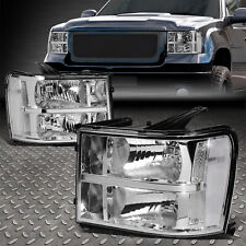 For 07-14 Gmc Sierra 1500 2500 3500 Chrome/Clear Oe Style Headlight Head Lamps