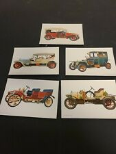 Lot of 5 Vintage Spain Unused Postcards With Antique Cars In Color Rare (102)