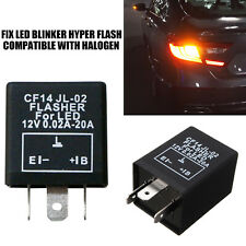 Turn Signal Hazard LED Flasher Relay CF14 3Pin JL-02 Fix Fast Hyper-flash Blink