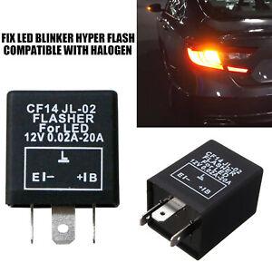 Turn Signal Hazard LED Flasher Relay CF14 3Pin JL-02 Fix Fast Hyper-flash Blink
