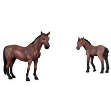 New CollectA 88021 and 88022 Thoroughbred Mare and Foal Farm Toy Model Figures