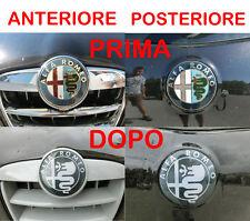ADESIVO 3D STICKER FREGIO COFANO ANTERIORE + POSTERIORE ALFA ROMEO GIULIETTA 159