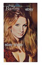 "Here's Barbra Streisand 9x5"" Postcard Hilton Hotel Las Vegas Nv 1970's Club Show"
