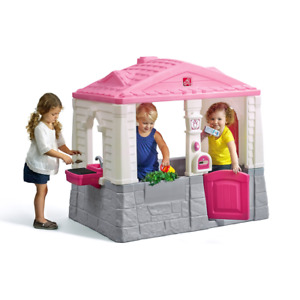 Step2 Neat and Tidy Pink Cottage Playhouse, for Toddlers