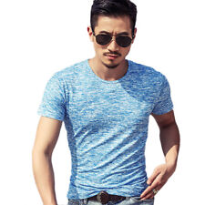 Men's Short Sleeve T-Shirt Crew Neck Casual Slim Fit Camo Summer Shirt Tops Tee